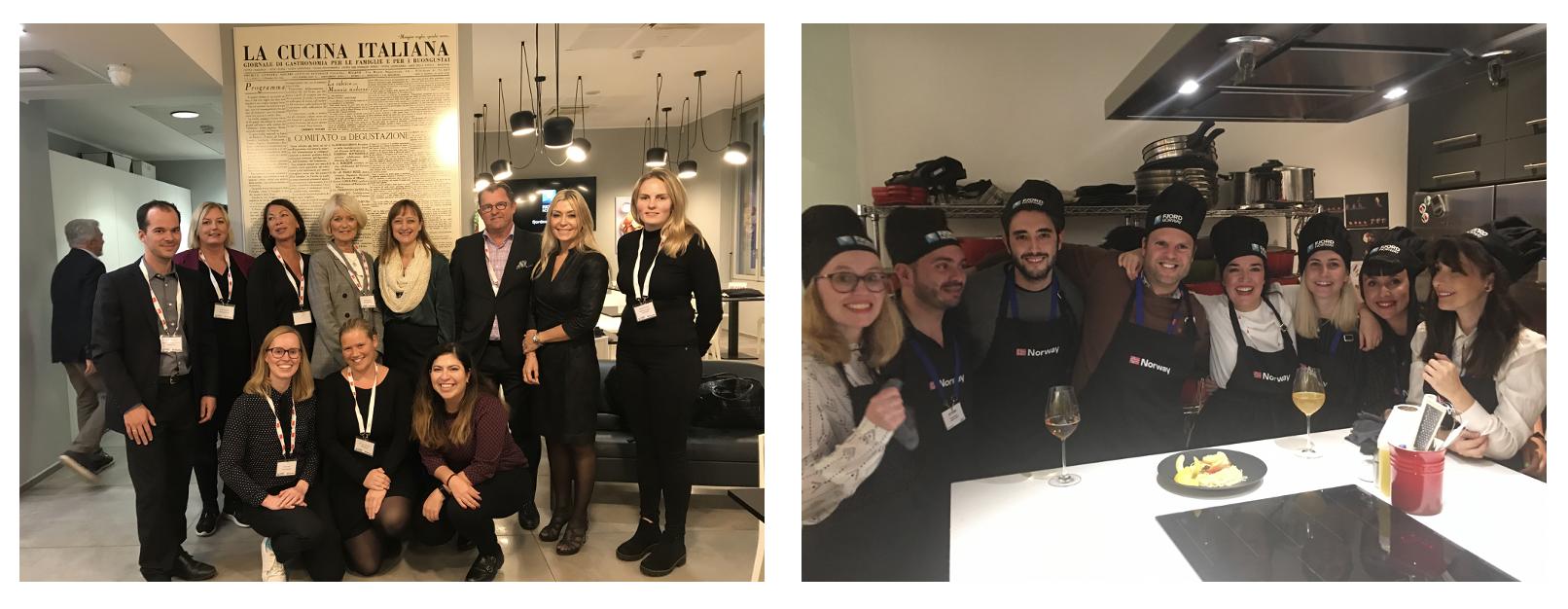 Bilde fra turoperatør event i Milano og Madrid 2019